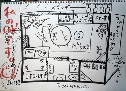 Sketches of Seiyuu Living Quarters