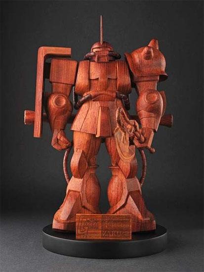 Thousand Dollar Wooden Gundam Statue