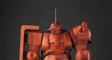 Thousand Dollar Wooden Gundam Statue